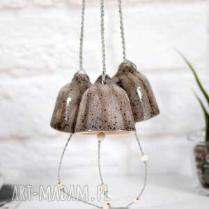 dekoracje ceramiczny dzwonek choinkowy - marmur, ozdoby choinkowe dzwonki