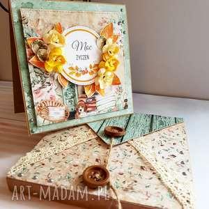 handmade scrapbooking kartki jesienne urodziny - kartka w kopercie