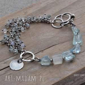 hand-made bransoletki bryłki i oponki. bransoletka srebrna
