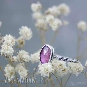 little ring - pink spring, minimalistyczny, kobiecy, drobny, romantyczny