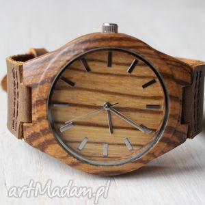 handmade zegarki drewniany zegarek zebra clear classic