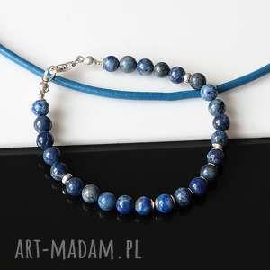 lapis lazuli - bransoletka, lapis, lazuli, srebro