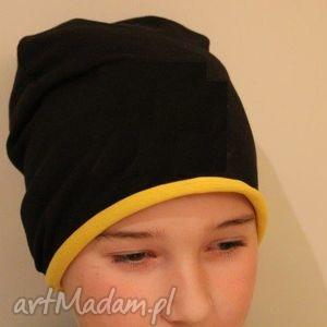 czapka dwustronna 2 w 1 dziecięca beanie dresowa kolory, czapka