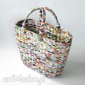 hand-made kolorowy koszyk/ torba / gazetnik