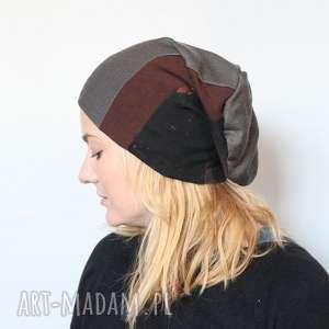 ręcznie robione czapki czapka handmade unisex, dzianina na podszewce