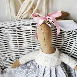 ręcznie wykonane maskotki pani królik przytulanka z imieniem