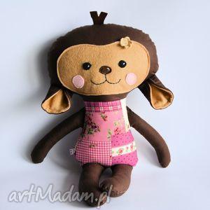maskotki małpka hania 45 cm, małpka, dziewczynka, maskotka, przytulanka, roczek