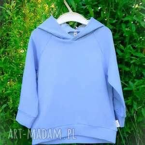 niebieska bluza z kapturem, dla chłopca, dziewczynki, wygodna