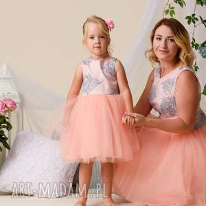 Komplet sukienek alice dla mamy i córki mrugala tiulowe sukienki