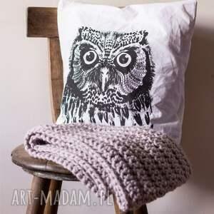poszewka sowa - malinowe cacko, poszewka, poduszka, sowa, ilustracja, grafika