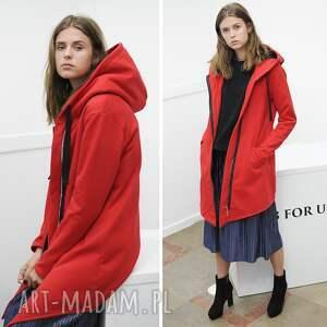 bluzy bluza damska na zamek czerwona, moda, styl, bawełna, wygoda, fashion, desing