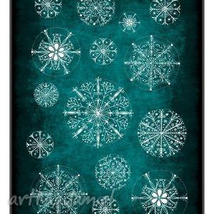 upominek Zestaw 5 świątecznych karteczek, święta, kartka, pocztówka, śnieg, zima