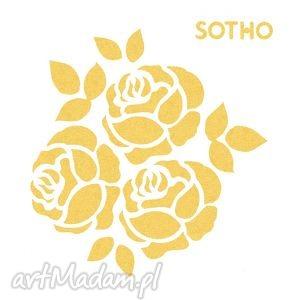 sotho tatuaż trzy złote metaliczne różyczki - róże