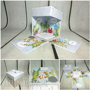 scrapbooking kartki exploding box / eksplodujące pudełeczko akwarium, urodziny