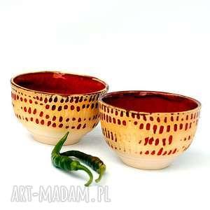 Ceramiczne czarki strugane II , czarki, czarka, naczyia, ceramika, użytkowe