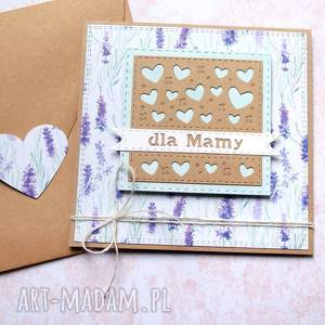 dla mamy kartka handmade lawenda, mama, mamy, dzień matki