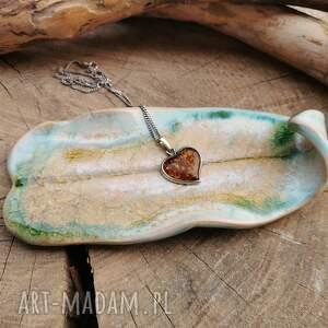 ceramiczny talerzyk liść c266, talerzyk, liść, na biżuterię, podstawka, palo