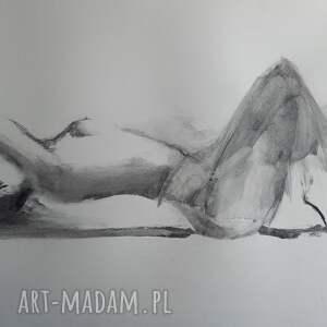 nude 100x70, obraz do salonu, duże obrazy, sypialni, kobieta duży szkic
