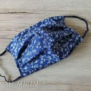 torebki niezwykle maseczka bawełniana - gałązki granatowe, maska
