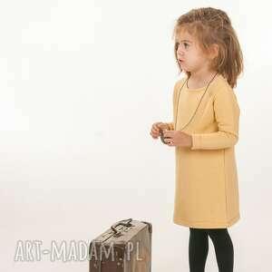 musztardowy look, dziewczynka, sukienka, musztardowa, elegancka ubranka
