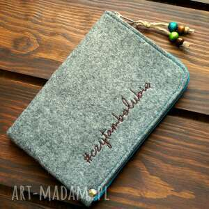 etui filcowe na czytnik #czytambolubię, czytnik, e book, prezent, koraliki
