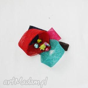 papuga - papuga, broszka, czerwony