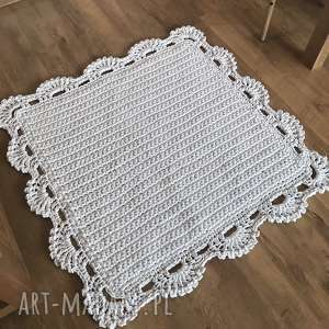 dywany dywan z koronką kwadrat ii, dywanik, koronka, vintage, sypialnia