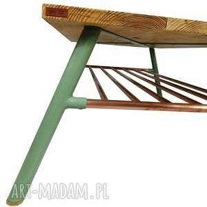 hand made stoły stolik kawowy drewniany, skandynawski