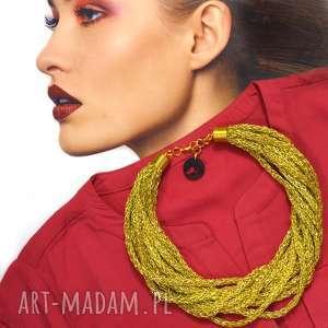 naszyjnik golden dream - łańcuszek, placiony, naszyjnik, kolia, elegancki