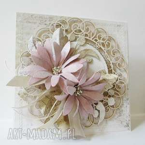 Kartka z kwiatami w pudełku, ślub, rocznica, zaproszenie, życzenia, podziękowanie