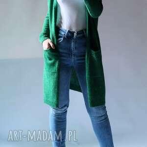 sweter oversize z kieszeniami, damski, elegancki, uniwersalny, kieszeniami
