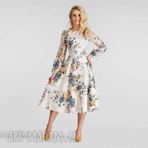 sukienki sukienka aniela total midi gardenia, do łydki, sukienka