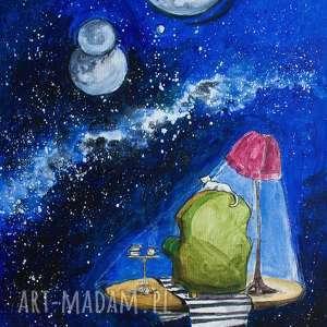 obserwator obraz akrylowy na płótnie 50x40cm artystki adriany laube - niebo, gwiazdy