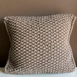 poduszka ze sznurka bawełnianego hania 45x45 cm, poduszka, ręcznie