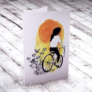 najpiękniejsze życzenia iv karteczka, kartki, okolicznościowe, rower, urodziny