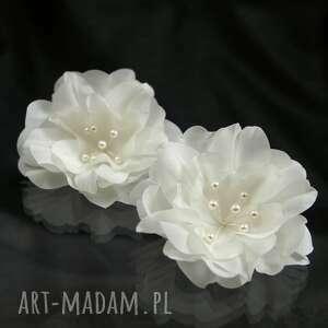 handmade ozdoby do włosów jedwabne kwiaty