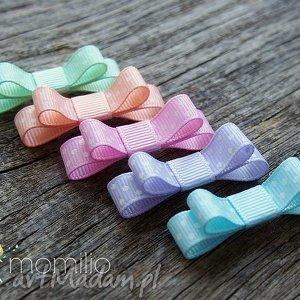 Spineczki do włosów kokardki pastelove, spineczki, kokardki, pastelowe
