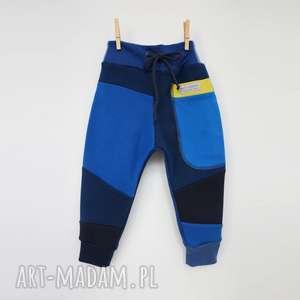 PATCH PANTS spodnie 74 - 98 cm Granatowe, dres, spodnie-dresowe, bawełna, eco, ciepłe