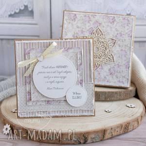 Wyjątkowa pamiątka ślubna dla młodej pary kartka w ozdobnym