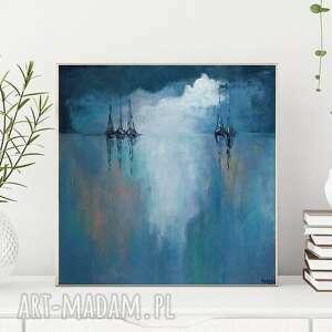 morze-obraz akrylowy formatu 40/40 cm, morze, akryl, kwadrat, płótno
