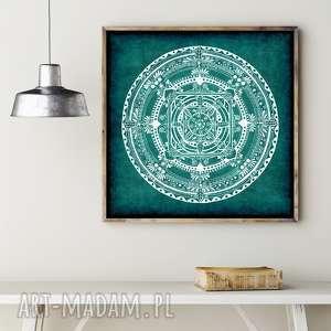 grafika mandala 30x30cm, mandala, plakat, plakaty, etno, wyjątkowy prezent