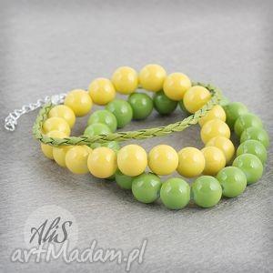 Wiosenna żółto-zielona - ,żółta,zielona,gumka,wiosenna,