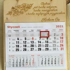 kalendarz prezent z okazji dnia babci