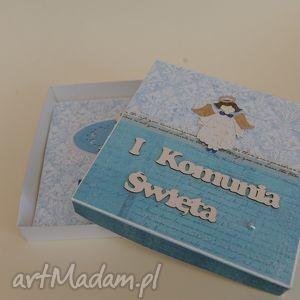 handmade na święta prezent kartka w pudełku pierwsza komunia