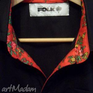 Prezent Męska koszula Folk Design sygnowana dla Stanisława Karpiela Bułecki ,