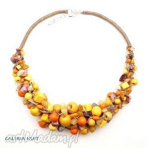 jesień - drewno, ametyst, orange, lniany, naturalny, stylowy