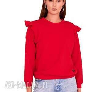 bluzka lara kolor czerwony, bluzka, płaszcz, kurtka, bluza, spodnie, marynarka