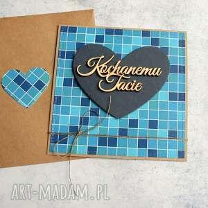 kartki dla taty - dzień ojca niebieska, tata, taty, ojca