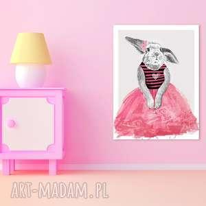 obraz na płótnie - 60x80cm baletnica wysyłka w 24h 02206, króliczek