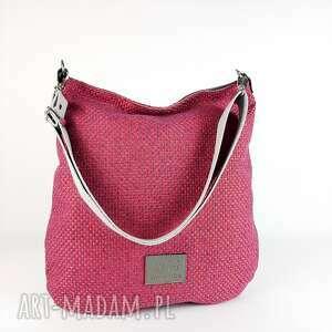 hobo xxl kolor różowy efekt 3d, torebka na ramię, pasku, produkt